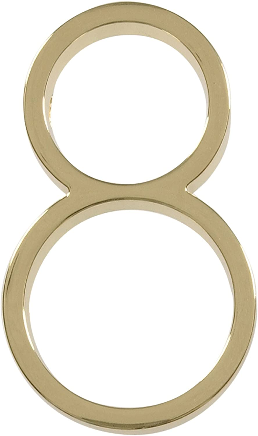Distinctions by Hillman 843208 5-Inch Floating Mount House Polished Brass, Number 8