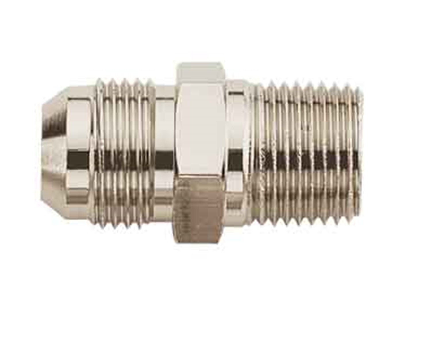 Aeroquip FCE2004 Nickel-Plated Aluminum -6AN Male to 1/4' NPT Male Straight Adapter