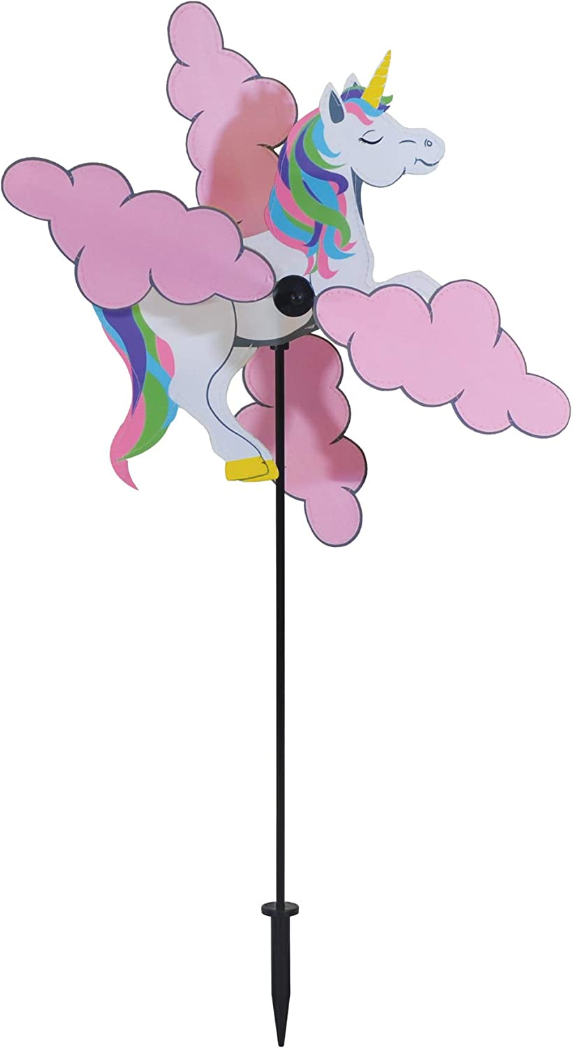 In the Breeze 2564 Unicorn Whirligig Wind Spinner for Your Yard or Garden