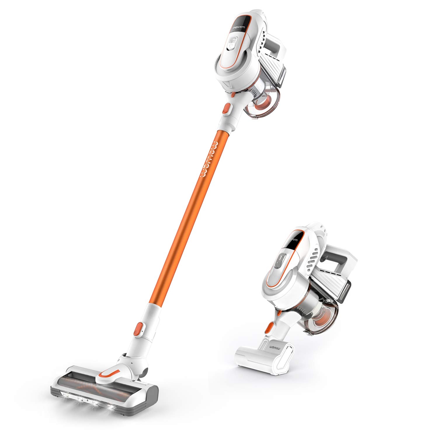 Cordless Vacuum Cleaner, Womow W9 Stick Vacuum Cleaner, 16000pa Powerful Suction, 300W Brushless Motor, Lightweight 2 in 1 Handheld Vacuum with HEPA Filter LED Power Brush for Pet Hair by Womow