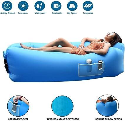 JOURLOVE Sofa Hinchable del Aire del Ocioso de Playa,Portable para ...