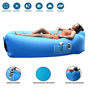 JOURLOVE Sofa Hinchable del Aire del Ocioso de Playa,Portable para ...