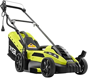 Ryobi 13 in. 11 Amp Corded Electric Walk Behind Push Mower, Maintenance Free with No Gas, Oil, Filters or Spark Plugs (Renewed)