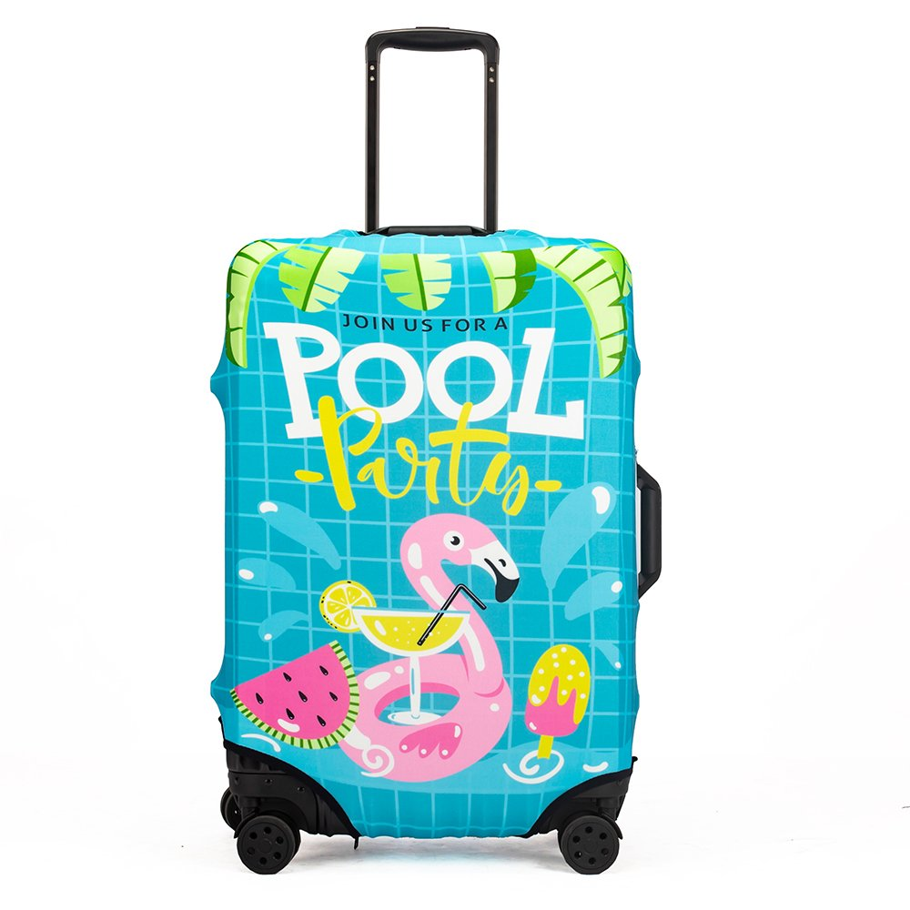 Madfifennina Washable Spandex Travel Luggage Protector Baggage Suitcase Cover Fit 23-32 Inch (Xl(29''-32'' luggage), Summer)
