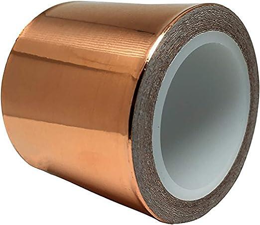 des vitraux et des circuits 13 mm et 6,4 mm chacun 20 m de long pour la r/éparation du blindage EMI 25,4 mm Rouleaux de ruban de cuivre Deedma avec film et adh/ésif- 4PK multi-largeurs 51 mm