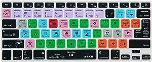 XSKN Logic Pro x 10 Silicone Keyboard Skin Cover for MacBook Air 13, MacBook Pro 13 15 17, Retina (US & EU Keyboard) NOT Suit Magic Keyboard