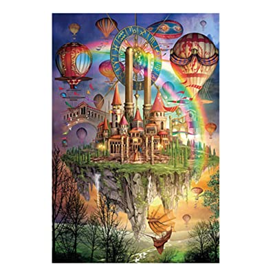 Landscape Jigsaw Puzzle - 1000 Piece Educational Large Puzzle Game Interesting Toys - Exclusive Premium Hand Made Colorful Castle Puzzles Personalized Gift: Toys & Games