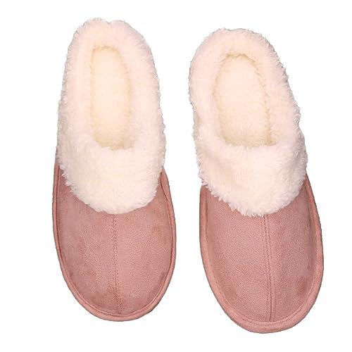 Zapatillas de suela interior de espuma de memoria suave para interiores y para hombres Zapatillas de felpa cálida de gamuza para buenos regalos YIYDgpCKH