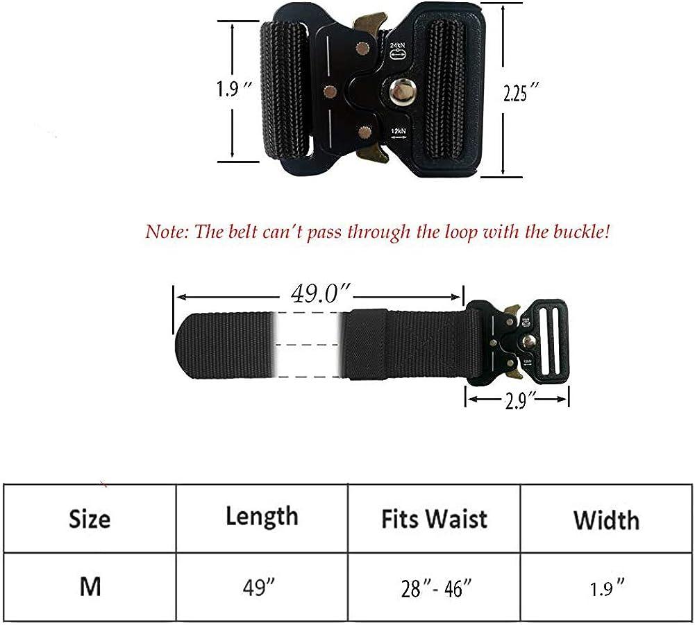 Ovecat Cintura Militare Tattica per Uomo Heavy Duty Cintura Militare con Cintura Cintura in Nylon Resistente per Caccia Esecuzione di Esercizi Militari