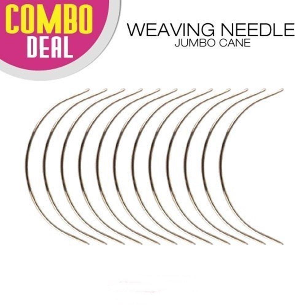BLACK Crispy Collection 12 combo Deal Weaving Needle Jumbo Cane NEEDLE AND 60 METER THREAD