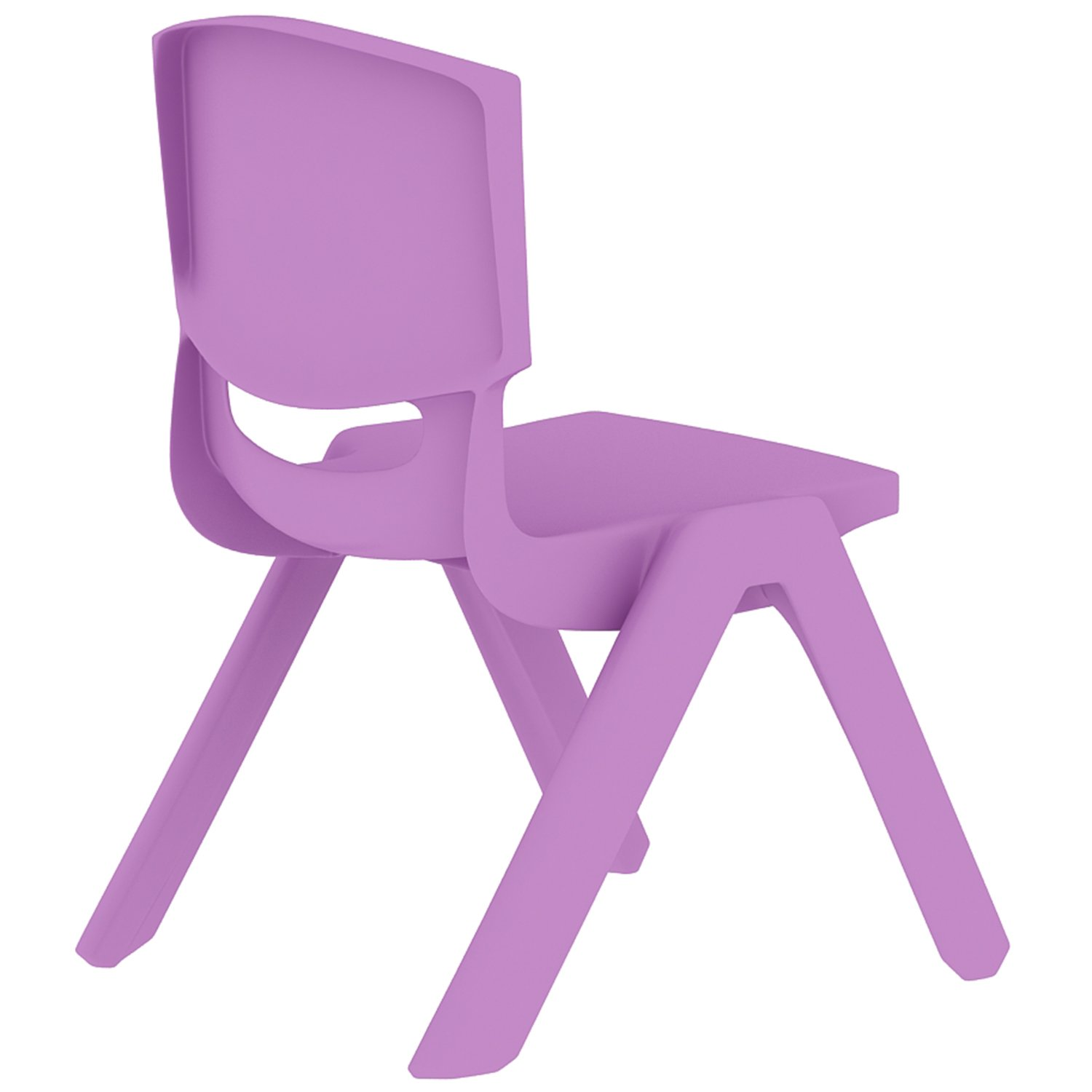 2xhome - Set of Four (4) - Purple - Kids Size Plastic Side Chair 10'' Seat Height Purple Childs Chair Childrens Room School Chairs No Arm Arms Armless Molded Plastic Seat Stackable by 2xhome (Image #4)
