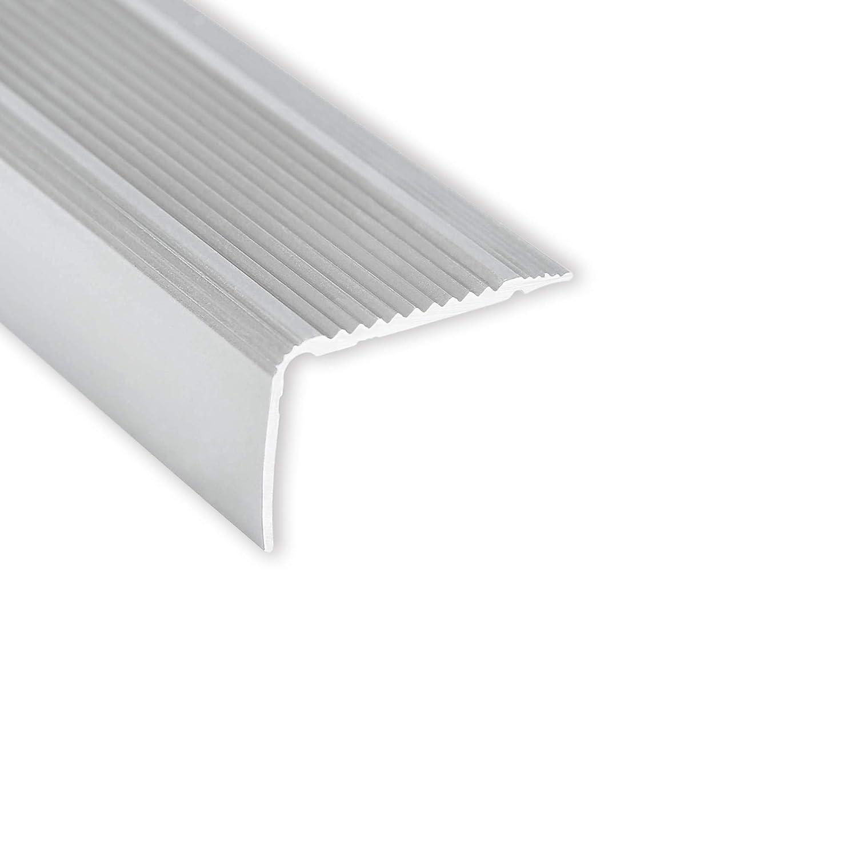 Montage autocollant Toolerando Nez de marche Corni/ère pour escaliers 30 x 20 mm Bronze 90 cm Forme L