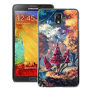 A-type Arte & diseño plástico duro Fundas Cover Cubre Hard Case Cover para Samsung Note 3 N9000 (Land Fairytale Forest Mushroom)