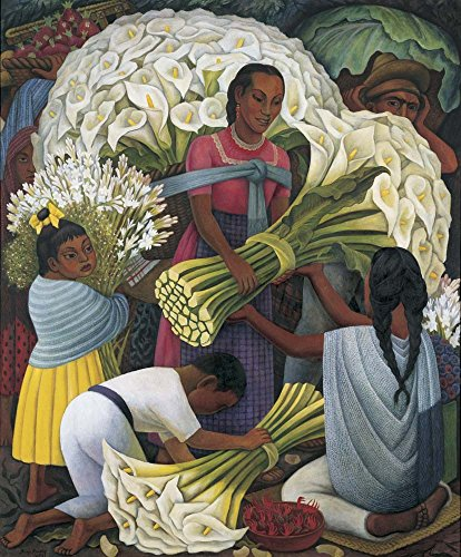 The Flower Vendor by Diego Rivera Art Print, 17 x 20 inches