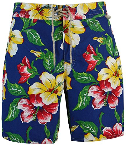 Polo Ralph Lauren Men's Pony Logo Floral Hawaiian Print Swim Shorts (34)