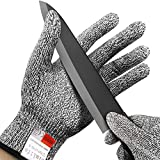 Cut Resistant Gloves,Simlife - High Performance Level 5 Protection,Food Grade Kitchen and Work Safety,Lightweight,Breathable,Durable and Extra Comfortable(Small)