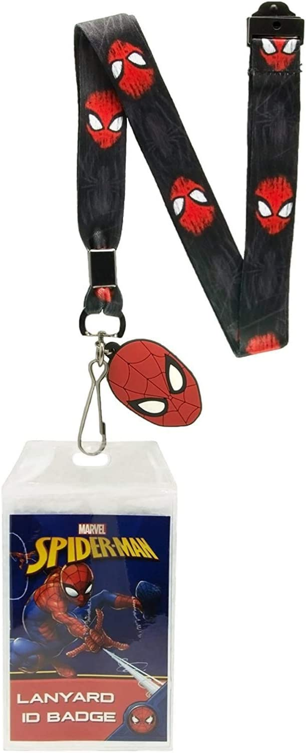 Clear PVC ID Holder Marvel Heroes Lanyard Neck Strap Charm