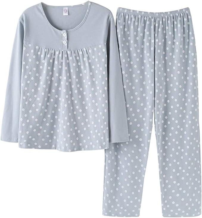 MEIXIA Pijamas Tops Camisón Negligees Pijamas Mujer Primavera Y ...