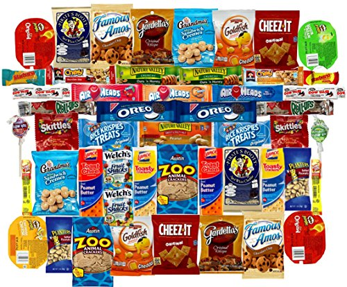 Mega Snacks (50 Count) Variety Care Package Gift Box - College Students, Military, Work or Home - Over 3 Pounds of Snacks! (Snack Gift)