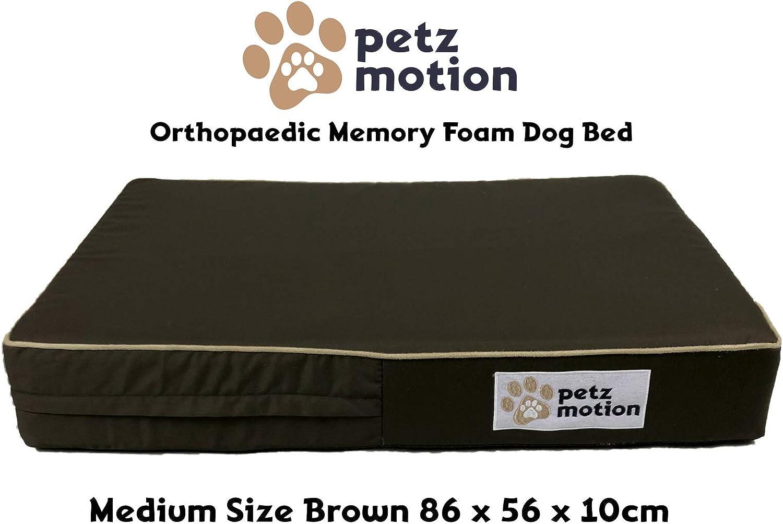 Petzmotion Colchón ortopédico de Espuma viscoelástica para Perro ...
