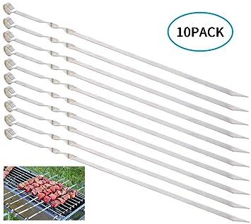 MojiDecor 10 pinchos de acero inoxidable de 38 cm de largo ...
