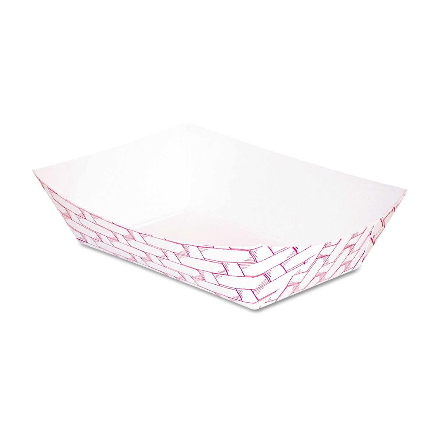 Boardwalk 30LAG025 Paper Food Baskets, 1/4 Lb Capacity, Red/white, 1000/carton