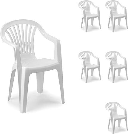 Mojawo Set di 6 sedie impilabili da Giardino Altea, in