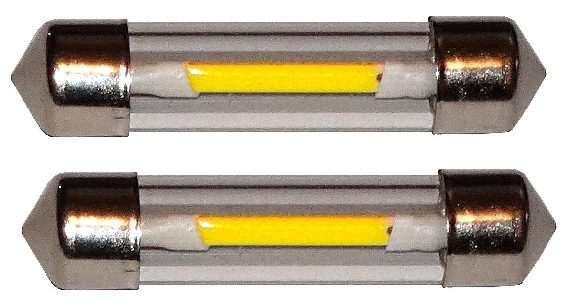 Aerzetix 2x ampoule C5W 12V 3LED SMD blanc effet x/énon 36mm navettes /éclairage int/érieur plaque dimmatriculation seuils de porte plafonnier pieds lecteur de carte coffre compartiment moteur