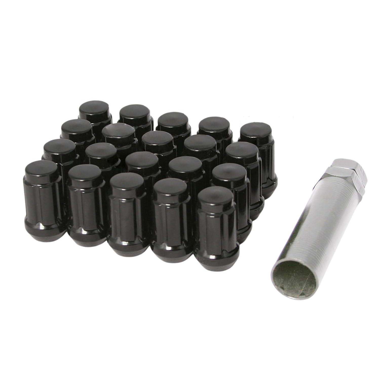 CPR Schlie/ßen 894/Spline Stahl Rad Lug Muttern 20/St/ück mit Schl/üssel M12/x 1,25/schwarz