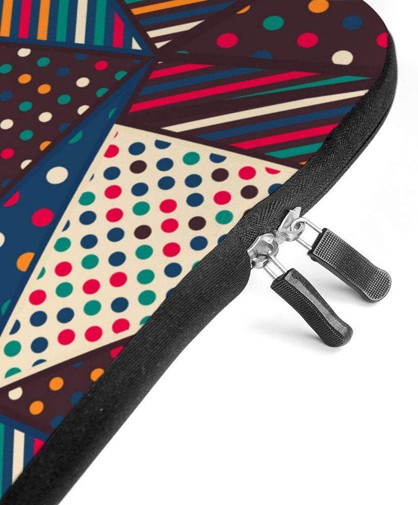 Neoprene Sleeve Laptop Handbag Case Cover Cloth Triangle Seamless Pattern Portable MacBook Laptop//Ultrabooks Case Bag Cover 15-15.6 Inch