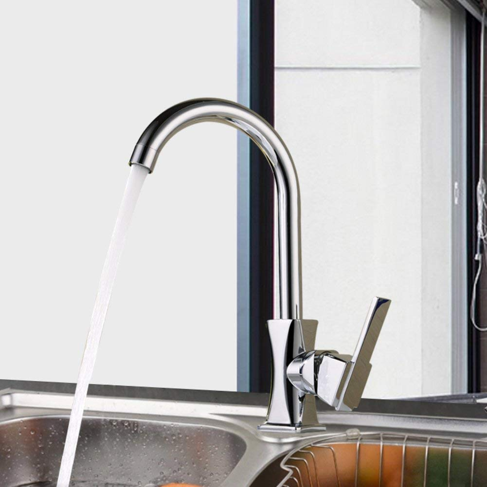 Oudan Kitchen faucet All-copper hot and cold tap Vegetables basin faucet Sink faucet-A (color   -, Size   -)