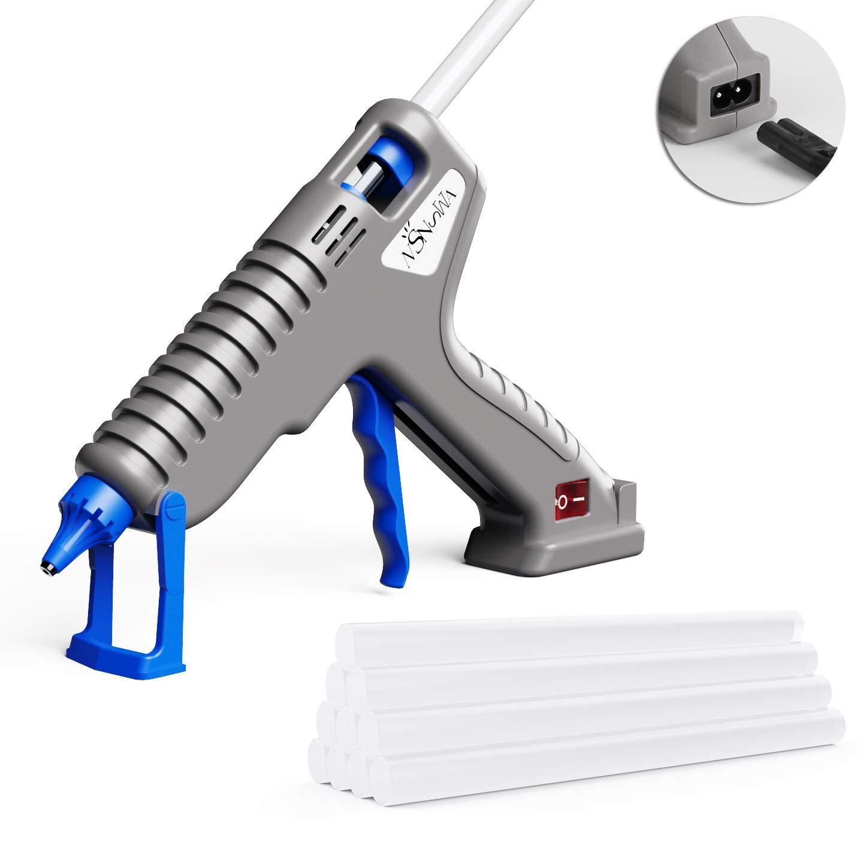 NSNSWA Hot Glue Gun, 60W Large Glue Gun Kit with Premium Glue Sticks, Quick Heating for DIY Arts Crafts School Home Repair