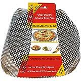 "Addie's Kitchen - A Reusable Non Stick 13"" Round Pizza Crisper Screen And 14"" X 14"" Mesh Crisping Basket"