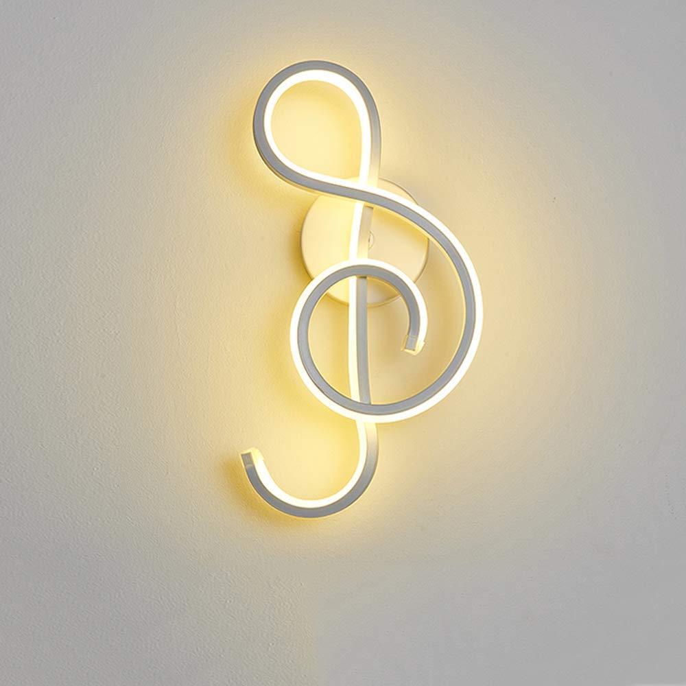 MUTANG Postmoderne minimalistische Wandleuchte aus Acryl-LED für Wohnzimmer-Korridor-Gang dekorativ, nordEuropäisches kreatives Metallschlafzimmer Nachttischlampe LED-Lampe dekorative Beleuchtungslamp