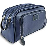 Vetelli Gio Mens Toiletry Bag Leather Dopp Kit Travel Toiletry Bag