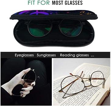 JEOLVP Estuche de gafas de sol suaves ecualizador de música Spectrum Soft con cremallera Estuche de gafas de sol para hombre Estuche de neopreno portátil ligero Estuche de gafas de sol Estuche