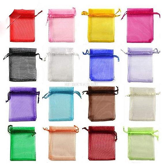 Amazon.com: Bolsa de regalo de organza, bolsa de decoración ...