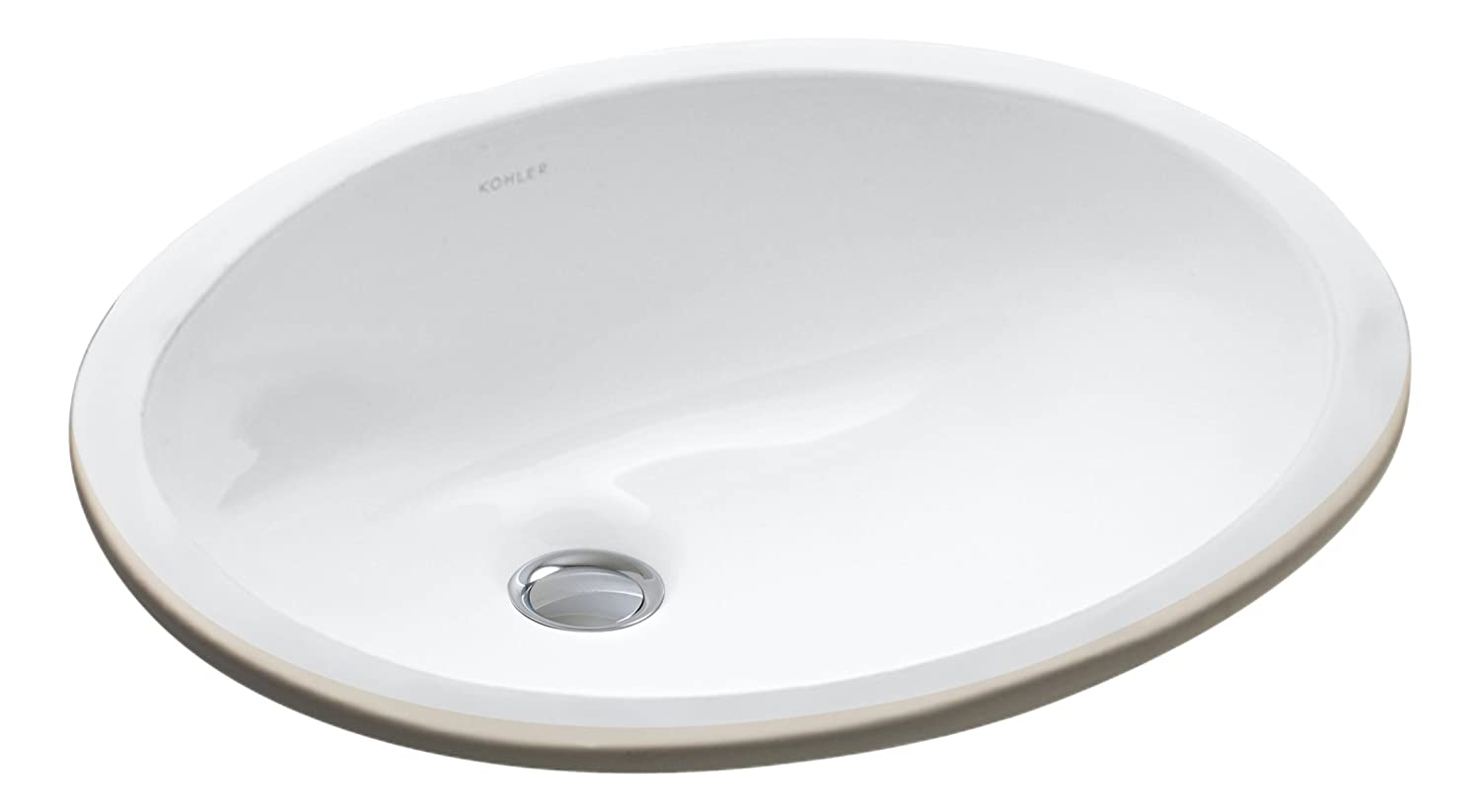 kohler k 2209 0 caxton under mount bathroom sink white rh amazon com white round undermount bathroom sink white round undermount bathroom sink