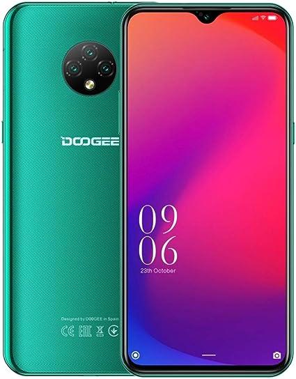 4G Smartphone Libre Android 10 (2020), Teléfono Móvil DOOGEE X95 Dual SIM, 6.52 Waterdrop Pantalla, Batería 4350mAh Carga Rápida, 2GB+16GB, 13MP+2MP+2MP+5MP, GPS WiFi, Reconocimiento Facial Verde: Amazon.es: Electrónica