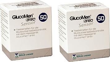Tiras reactivas de glucosa para la diabetes Glucomen AREO (100 unidades): Amazon.es: Salud y cuidado personal