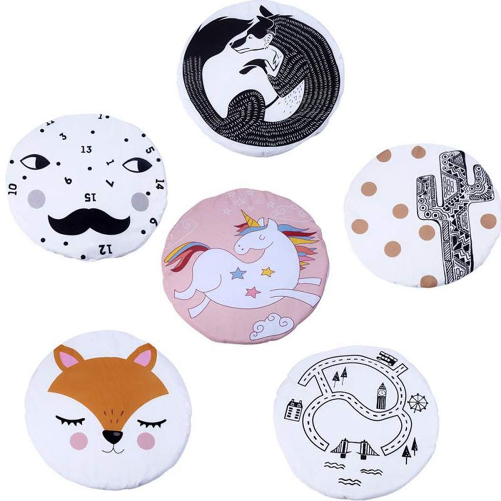 Round Rugs Baby Rug Nursery Rugs Design Home Decoration Area Rugs Bedroom/Living Room Carpet Baby Crawling Mats Kids Play Mat Machine Washable Rugs by RXIN (Image #3)