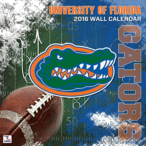 "Turner Florida Gators 2016 Team Wall Calendar, September 2015 - December 2016, 12 x 12"" (8011799)"
