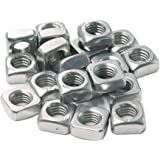 Cyful 20pcs Stainless Steel M8 Square Nuts,1.25 mm Pitch