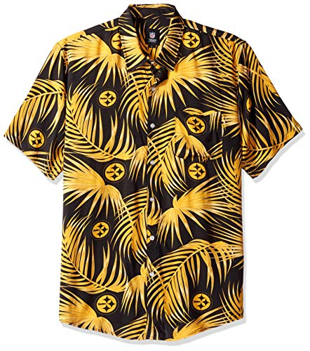 NFL Mens Floral Shirt: Pittsburgh Steelers, Large