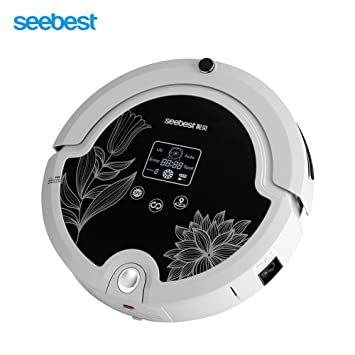 Robot Aspirador, Esterilización con Luz Ultravioleta Robot Inteligente Automático C571 Tiempo Configurable Aspirador Limpiador de Piso Barrido Succión ...