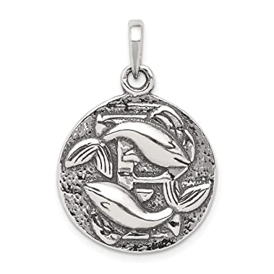 FB Jewels Solid Sterling Silver Antiqued Dog Charm