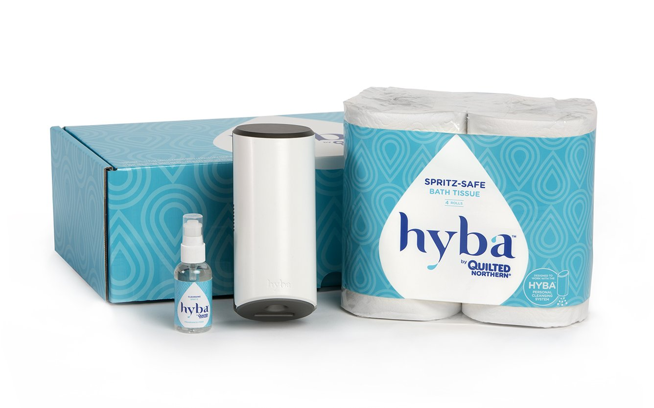 Amazon.com: Hyba Personal Cleansing System Spritz-Safe Toilet Paper ...