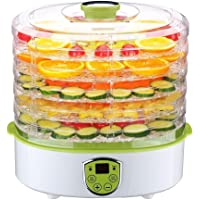 UniDargon Electric Food Dehydrator Fruit Vegetables Dryer Machine Electric 5 Tier Food Preserver with Adjustable Temperature & Digital Timer