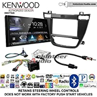Volunteer Audio Kenwood DMX7704S Double Din Radio Install Kit with Apple CarPlay Android Auto Bluetooth Fits 2011-2013 Buick Regal (Black)