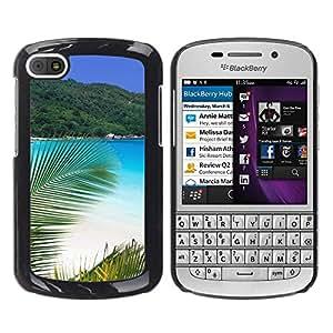 EJOY---Cubierta de la caja de protección la piel dura para el / BlackBerry Q10 / --Paradise Palm Beach